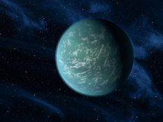 artist impression of keppler 22b-the first planet outside our solar system in the habitable life zone...too bad it's 600 light years away