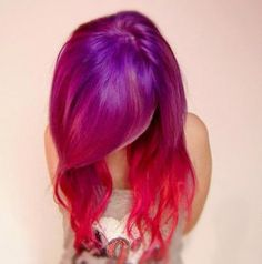Purple to red hair