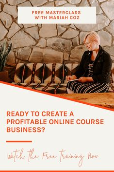 Learn the simple 3-part course launch framework in this free masterclass - plus how to eliminate stress and overwhelm from your online course creation. #onlinecourse #entrepreneruship #mariahcoz