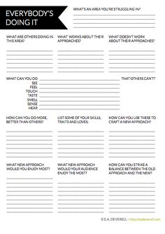 Different Writing Worksheet