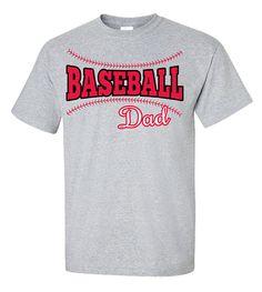 Baseball Dad Shirt Adult T-Shirt Personalized by VinylDezignz