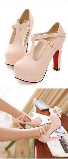 Blush Mary Jane heels //