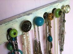 Věšák na šperky - RECY věci, organizer, věšáčk na šperky, jak udělat tečák, recyvěci, recyklace, jak vyrobit věšák, návod na věšák,