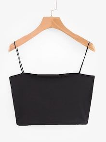 To find out about the Solid Crop Cami Top at SHEIN, part of our latest Tank Tops & Camis ready to shop online today! Cami Tops, Cute Crop Tops, Cami Crop Top, Black Crop Tops, Women's Tops, Grey Crop Top, Crop Top Outfits, Casual Skirt Outfits, Jugend Mode Outfits