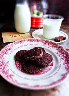 Chocolate Chipotle Icebox Cookies