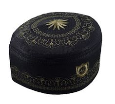 d60fdea8da1 High quality kufi hat for Muslim Men. Thick and comfortable fit. Unique  design Muslim prayer hats from Thailand.