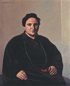 Vallotton (1865-1925), Portrait de Gertrude Stein, 1907 (// Ingres, M. Bertin, 1832)