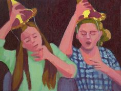 Put your hat on original acrylic painting by annamariapotamiti, $78.00