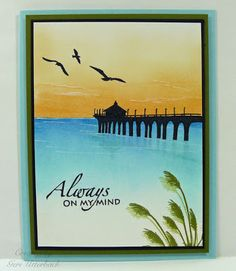 Another card using By The Sea 2 set by Gina K. Designs