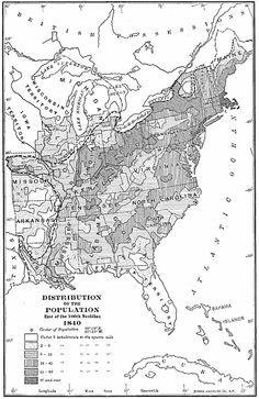 United States Population Density 1850 Maps The United States
