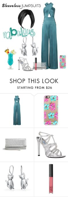 """""""Untitled #3356"""" by empathetic ❤ liked on Polyvore featuring Temperley London, Casetify, Jimmy Choo, Prada, Bling Jewelry, NARS Cosmetics and sleevelessjumpsuits"""