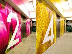 Town Pavilion Parking Garage Wayfinding and Signage Graphics