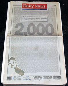List of 2000 Dead in Iraq War
