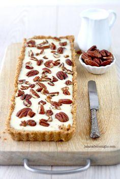 white chocolate  pecan nuts tart