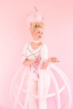 DIY Marie Antoinette Halloween costume