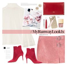"""What's YOUR Runway Look?"" by mylkbar ❤ liked on Polyvore featuring Fendi, MANGO, Gianvito Rossi, Valentino, Kate Spade, Valenz Handmade, Burberry, Maybelline and MyRunwayLookIs"