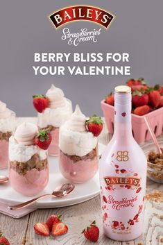 Treat your Valentine to something as delectable and delicious as they are: an indulgent cup of Baileys Strawberry Pie Mousse. Baileys Irish Cream, Mousse, Baileys Dessert, Valentine Desserts, Valentines, Yummy Drinks, Yummy Food, Baileys Recipes, Alcohol Drink Recipes