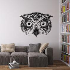 Great Horned Owl Vinyl Wall Art Sticker by George Birch