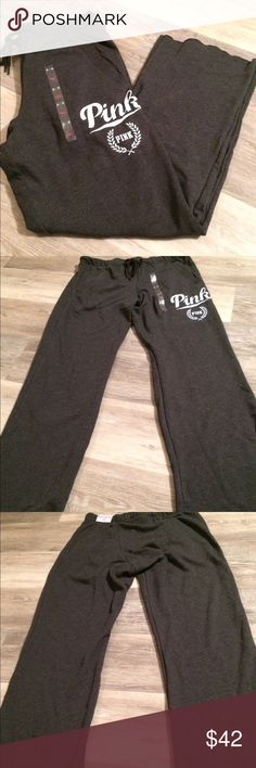 "BNWT Victoria's Secret PINK Sweatpants Brand new with tags - Victoria's Secret Boyfriend Fit Sweatpants Super roomy with a boxer inspired back. Supersoft fleece with drawstring elastic waist and side pockets. Size: Medium Inseam: 32"" Retail Price $49.95 PINK Victoria's Secret Pants Track Pants & Joggers"