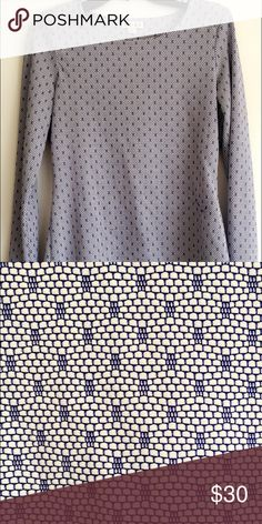 REISS Print Blouse Great top for work. Fits a size S/M great. Great condition, a little bit of wear. Reiss Tops Blouses