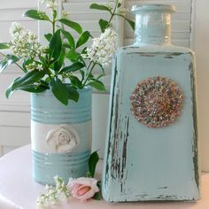 Aqua bottle jar chal
