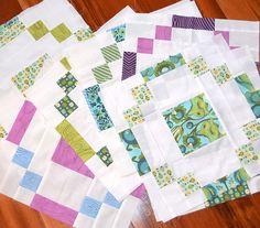 Stonehenge block quilt - in progress by shecanquilt, via Flickr