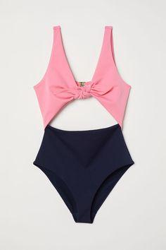 c4862a8d3c0e9 Cut-out Swimsuit | Pink/dark blue | WOMEN | H&M US Swimsuit Shops
