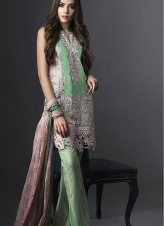 Specialised Green Pant Style Salwar Suit