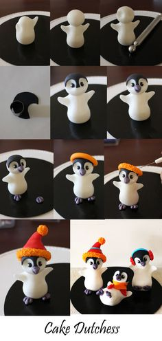 Penguin Tutorial - Cake Central Community. Check out this entire site. So many different instructional videos. All skill levels. Love this site.