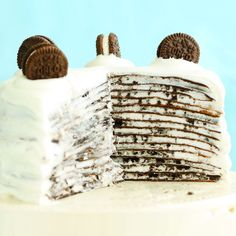 How to Make Oreo Mille Crepe Cake