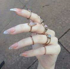 - Women Accessories - 20 couleurs de vernis à ongles tendance 2018 20 colors of trend 2018 nail polish. Stiletto Nail Art, Acrylic Nail Art, Clear Acrylic, Cute Nails, Pretty Nails, Hair And Nails, My Nails, Fall Nails, Diva Nails