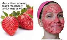 Strawberry mask for skin blemishes and blackheads