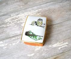 Vintage Limoges France Box  Porcelain  Mens by MomsantiquesNthings, $28.00