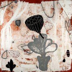 Flora II by Erik Gonzales - #art #mixedmedia #painting