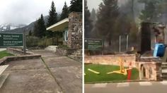 awesome Calgary firefighters 'showered with embers' fought to save historic Prince of Wales Hotel from wildfire - Calgary Check more at http://sherwoodparkweather.com/calgary-firefighters-showered-with-embers-fought-to-save-historic-prince-of-wales-hotel-from-wildfire-calgary/