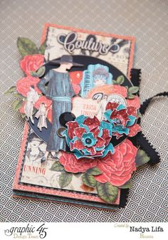This is a gorgeous Couture mini album from Nadya! Amazing #graphic45