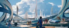 Syd Mead and Disney collaborate on  TOMRROWLAND starring George Clooney