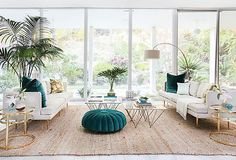 We're crushing on this Cali-cool style, with its mix of natural textures, high-gloss accents, and clean, contemporary lines. Luckily you don't have to live in the Hollywood Hills to embrace this glamorous aesthetic: Shop these furnishings and vintage finds to channel the laid-back look anywhere. Photo by Tessa Neusdadt; interior by Orlando Soria/Homepolish