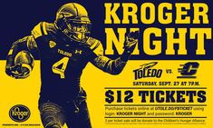 Hung in 23 Kroger locations throughout the Toledo area to promote ticket sales.