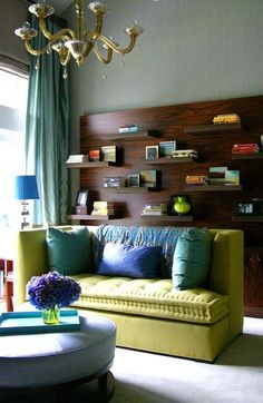 love the colors & the shelving