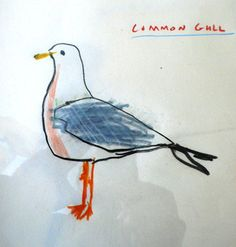 Seagulls make me happy. Robert Clarke artist.