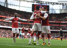 Danny Welbeck two, Alexandre Lacazette one. Arsenal 3-0 Bournemouth (September 2017)