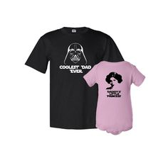 Coolest Dad Ever and Daddy's Litle Princess Father T-Shirt Daughter Bodysuit Matching Set First Father's Day Funny Baby Shower Gift Idea on Etsy, $39.87 CAD