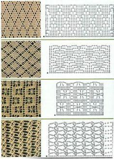 Discover thousands of images about Resultado de imagen para filet crochet stitch HONEYCOMB pattern Filet Crochet, Crochet Scarf Diagram, Crochet Stitches Chart, Tunisian Crochet, Crochet Motif, Diy Crochet, Knitting Stitches, Crochet Patterns, Scarf Crochet