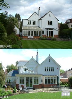 A Back to Front Classic! Traditional renovation project in Pinner, complete with new orangery, fantastic new windows and a beautiful colour scheme to compliment the transformation.