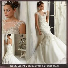 ds1882 white v-neck beaded open low back mermaid very sexy bridal wedding dress patterns