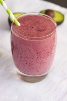 Nutrient-Rich Berry Smoothie- 1 tablespoon organic, cold-pressed coconut oil, 1/2 an avocado, 2 tablespoons gelatin, 1 cup coconut water (can substitute another liquid of your choice), 1 teaspoon raw honey (optional), 1 cup frozen mixed berries
