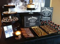 The interesting Jack Daniels Party Jack Daniels Party, Bolo Jack Daniels, Festa Jack Daniels, Jack Daniels Birthday, Jack Daniels Wedding, Jack Daniels Decor, Dessert Table Birthday, Birthday Desserts, 50th Party