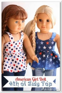 Adorable free doll clothes pattern for an American Girl Top along with tips and additional pattern pieces needed to complete the pattern.