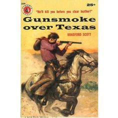 Gunsmoke over Texas, 1956, vintage western paperback #BOOK